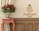 Keep Calm Customise Your Own Quotes Lettering Decal