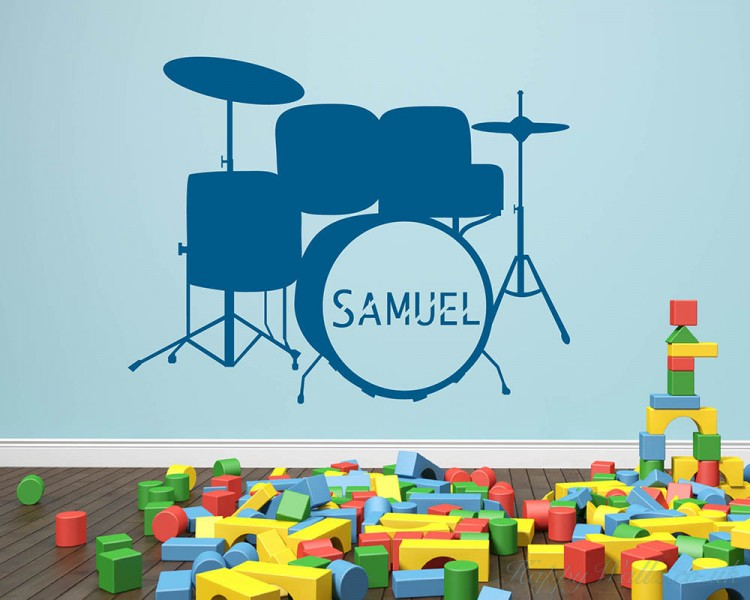 Drum Kit with Customised Name