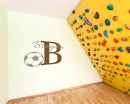 Football Customised Name Cartoon Decal For Nursery