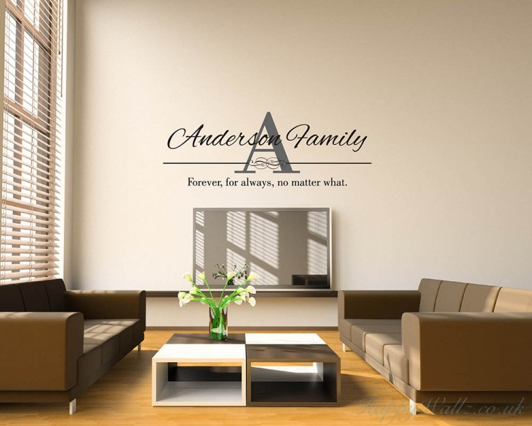 Family Name Wall Art family name wall art decal