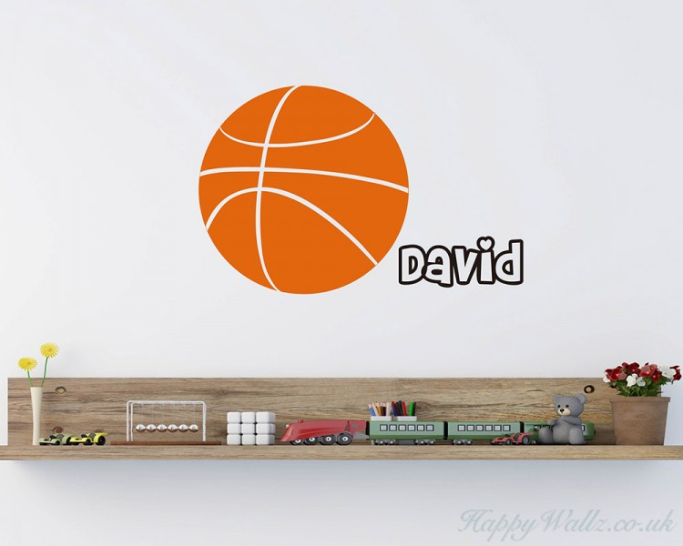 Basketball Customised Name Sport Decal