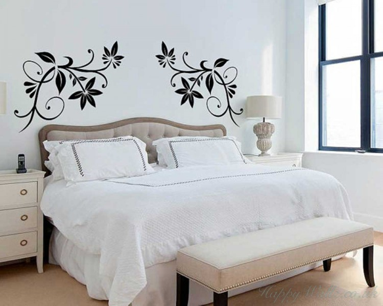 Coupled Floral Vines Decal