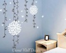 Beautiful Vines with Butterflies Flowers  Wall Decals