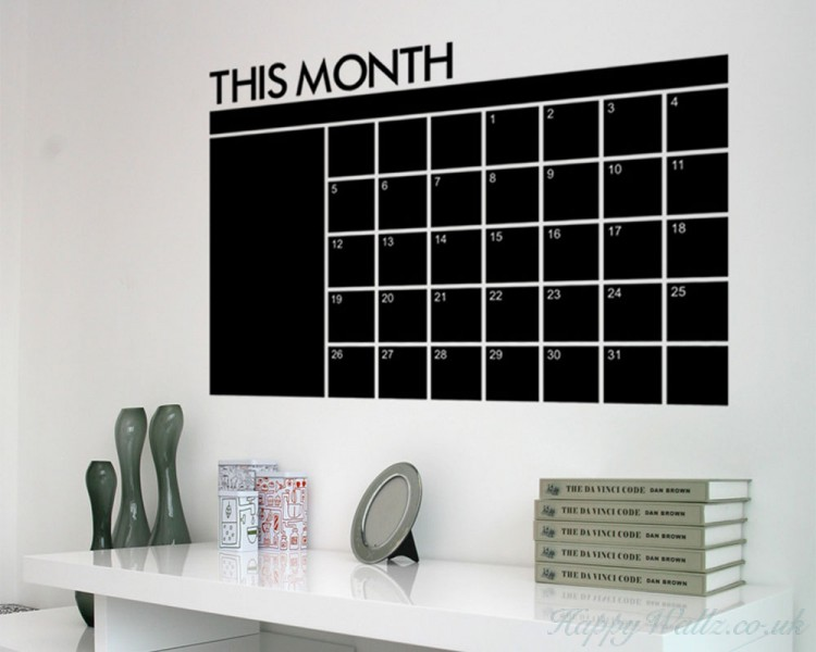 Monthly Chalkboard