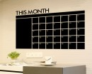 Monthly Chalkboard Home DIY Month Plan Calendar for Nursery and Office