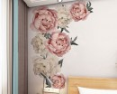 Peony Flowers Wall Decal, Peony Bouquet Flower Stickers