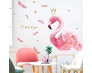 Flamingo with Feathers Romantic Wall Decal