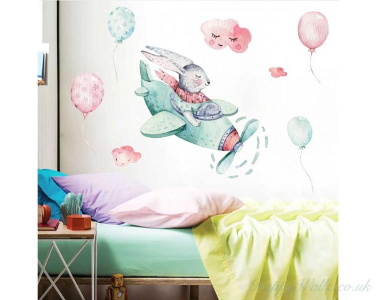 Bunny Pilot And Balloons