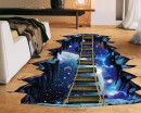 Creative 3D Universe Suspension Bridge Removable Decor