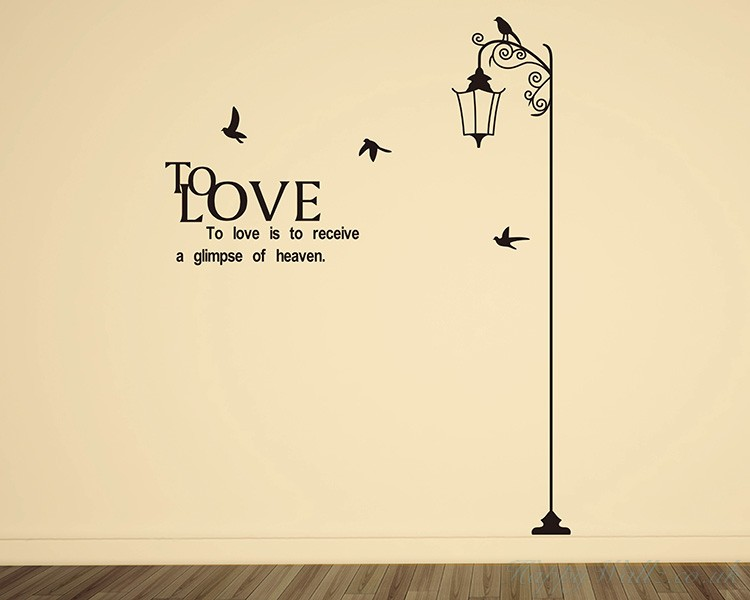 Street Lamp with Quotes Wall Art Sticker