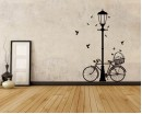 Street Lamp Bicycle  Wall Art Sticker