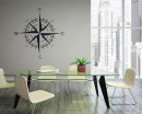 Compass  Modern Wall Art Sticker