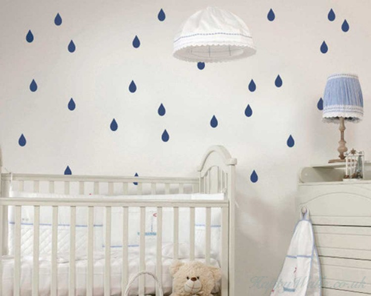 Raindrop Pattern Wall Decal  Sticker