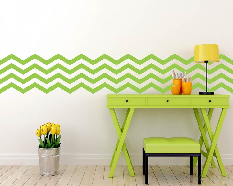 4 Chevron Stripes Wall Decal