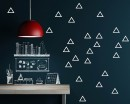Empty Triangle Pattern Wall Sticker