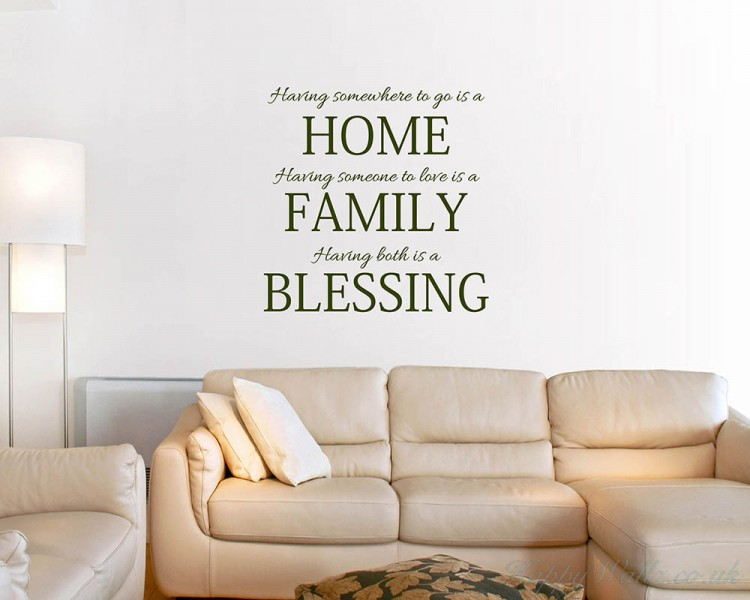 home family blessing quotes wall art stickers