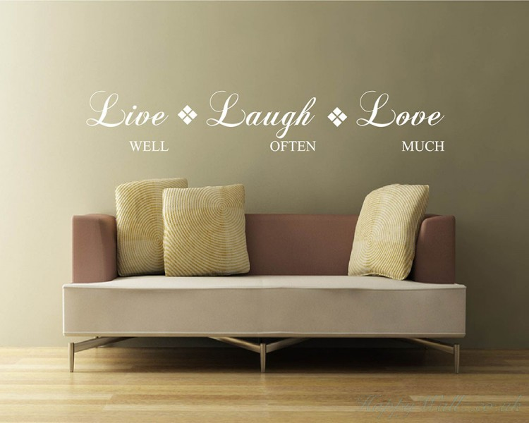 Marvelous Live Well, Laugh Often, Love Much. Live Laugh Love Quotes Wall Art Stickers