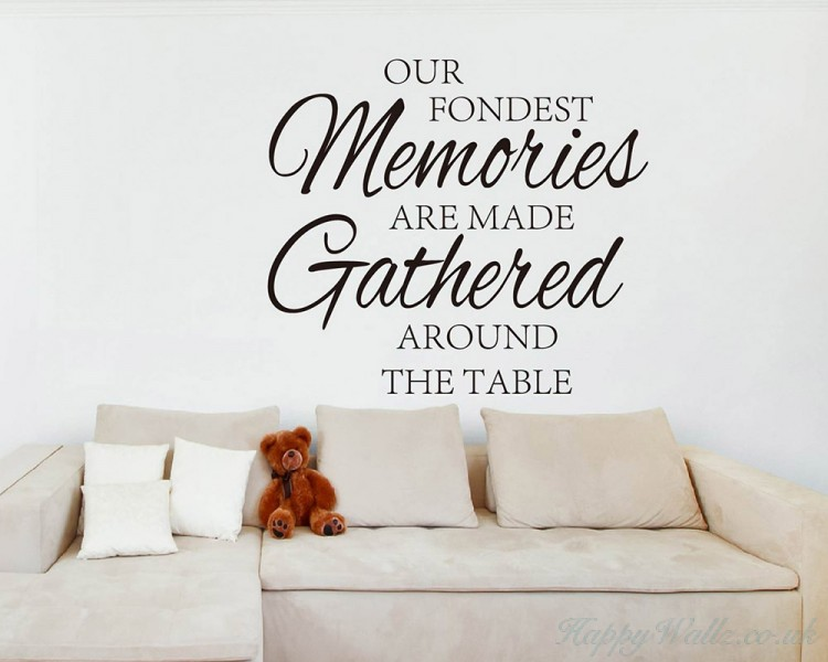Our Fondest Memories Quotes Wall Art Stickers