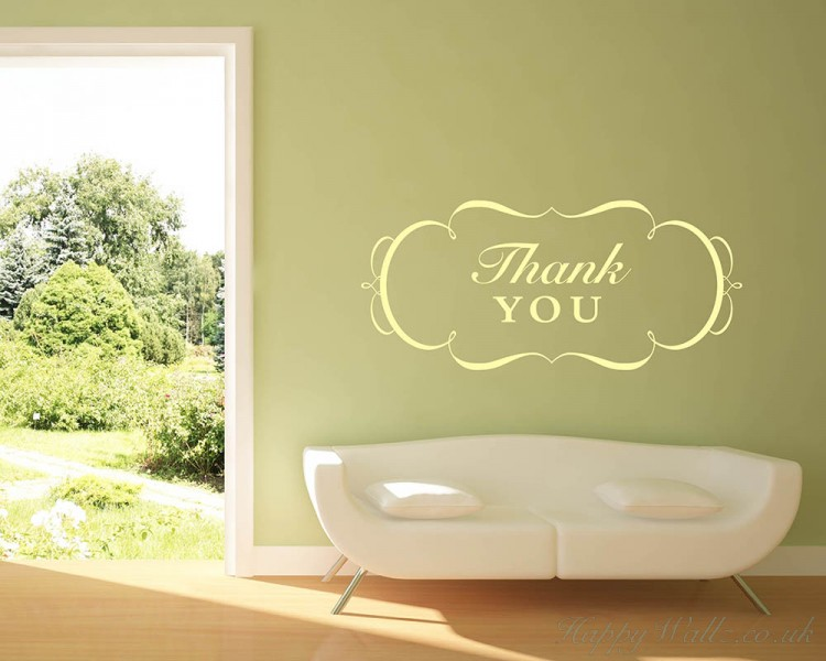 Thank You Quotes Wall Art Stickers