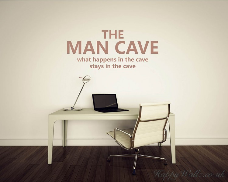 The Man Cave Quotes Wall Art Stickers Enchanting Quotes Wall Art