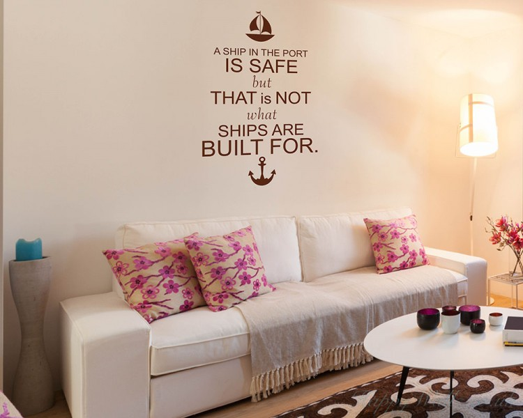 A Ship Quotes Wall  Art Stickers