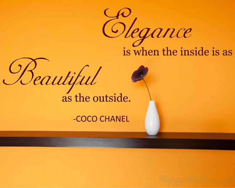Elegance Quotes Wall Art Stickers