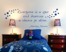 Everyone is a Star Quotes Wall  Art Stickers