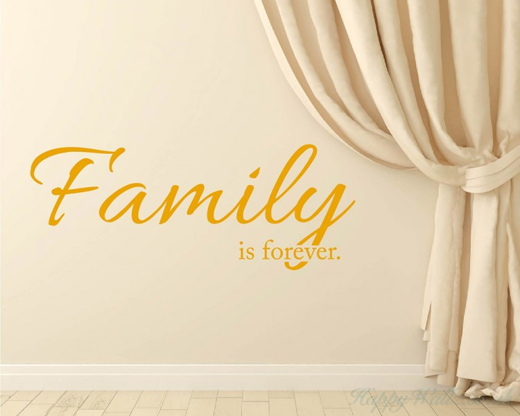Family is Forever Quotes Wall Art Stickers
