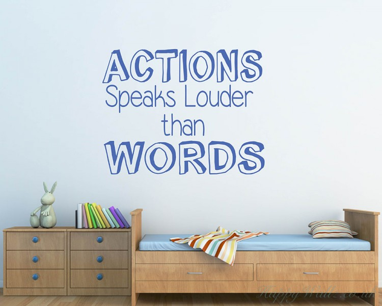 Action Speaks Quotes