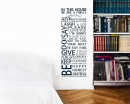 In This House Quotes Wall  Art Stickers