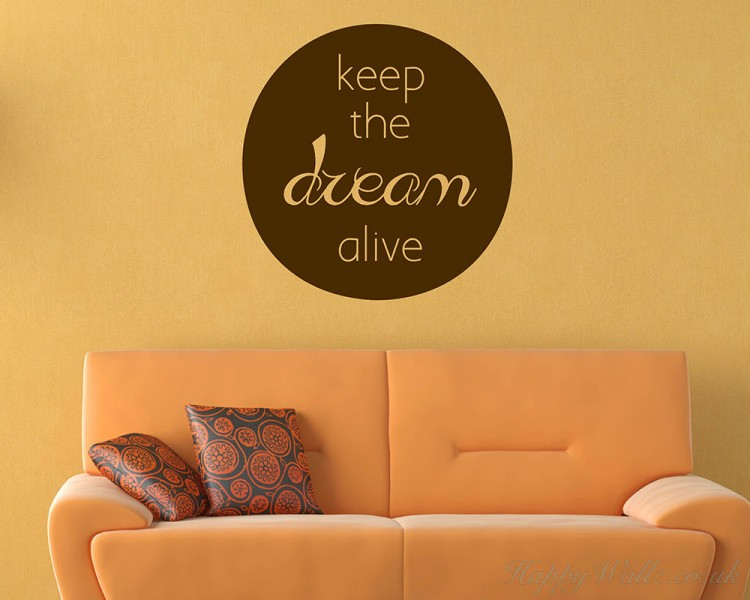 Keep the Dream Quotes Wall Art Stickers