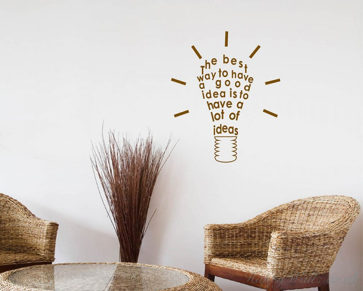 The Best Way Quotes Wall  Art Stickers