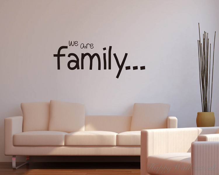 We Are Family Quotes Wall Art Stickers