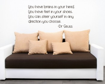 You Have Brains Quotes Wall Art Stickers