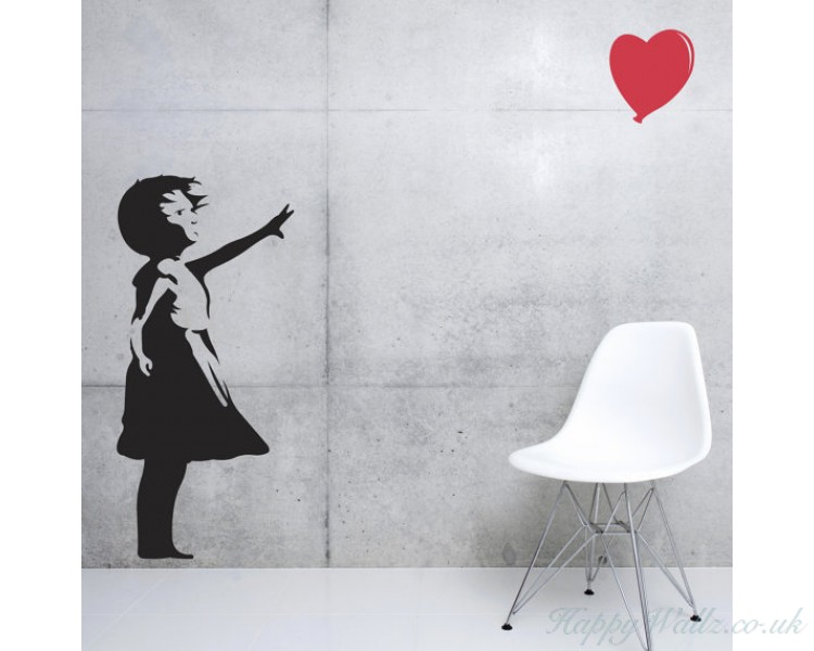 Banksy Art -  Girl and Balloon