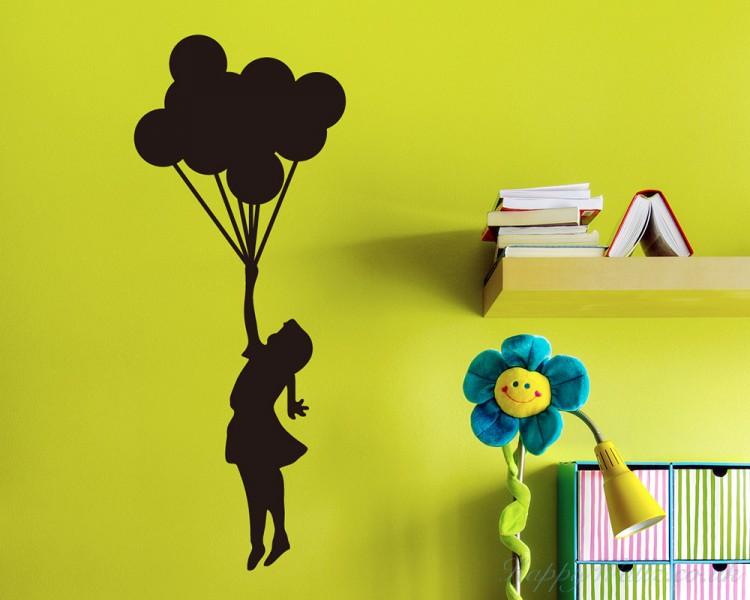 Banksy Floating Balloons Silhouette Wall Art Sticker