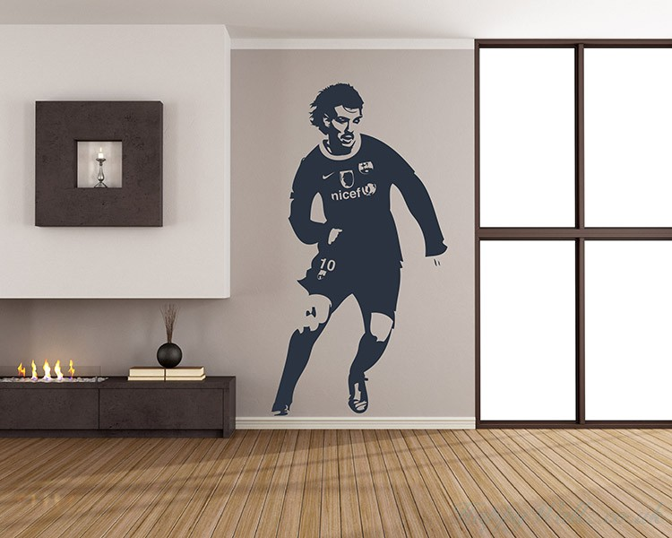 Famous Soccer Player Silhouette Decal
