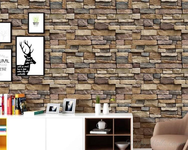 Living Room Modern Stone Brick Wall Art, Modern Wall Art For Living Room Uk