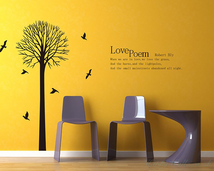 Tree with Love Quotes Wall Art Stickers