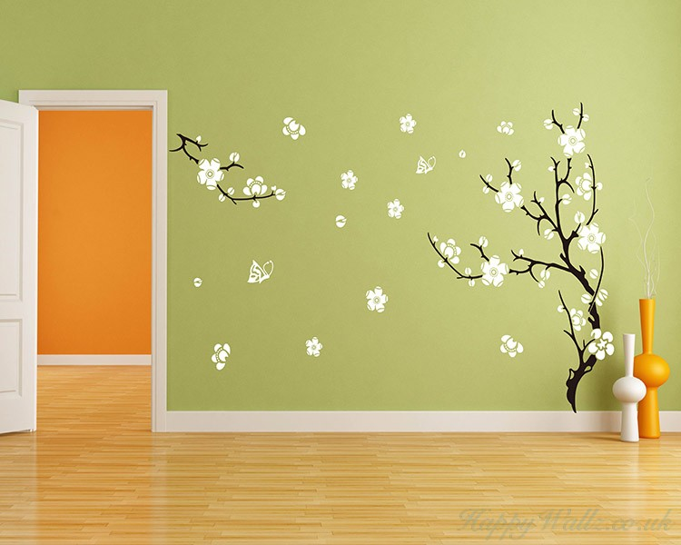 Plum Blossom Tree Wall Decal