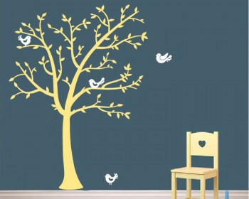 Tree And Lovely Birds Wall Decal Tree Art Stickers