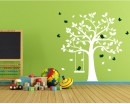 Tree with Birds and Swing Wall Decal