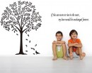 Linden Tree Wall Decal with Quotes  Art Stickers