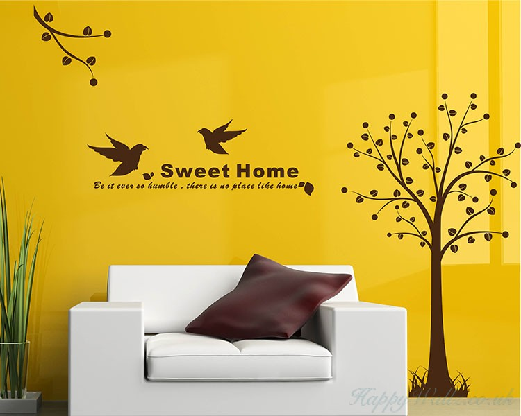 Tree with Bird Wall Art Stickers
