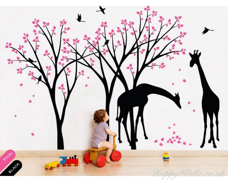 Cherry Blossom Tree With Giraffe Part 95