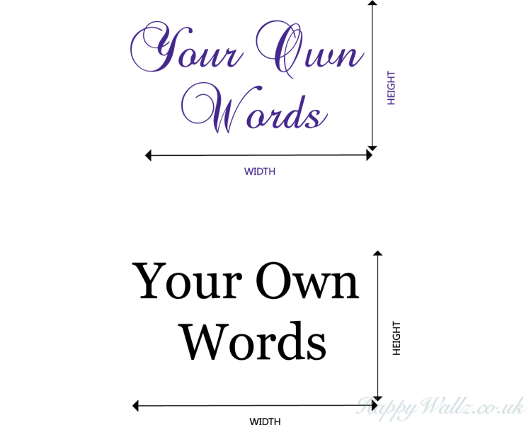 Create Your Own Words Quotes Stickers