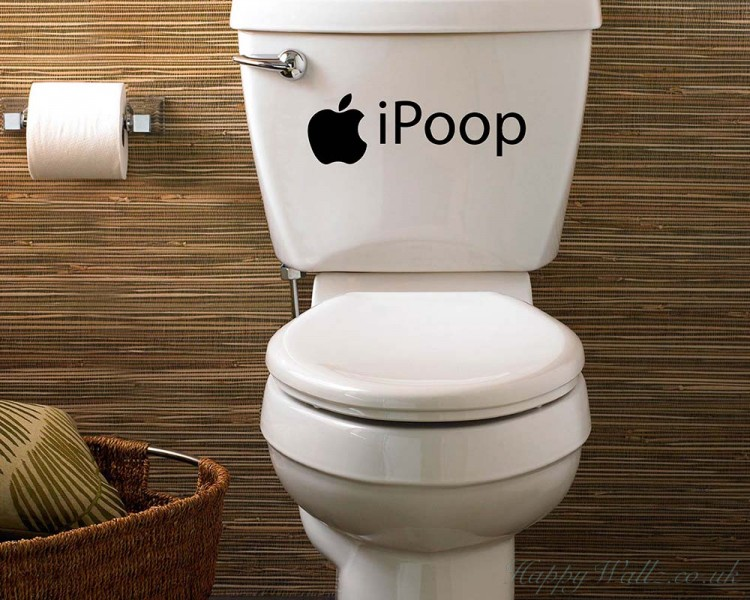 I Poop Funny Vinyl Sticker Bathroom Toilet Seat