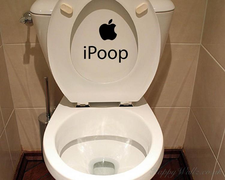I Poop Funny Vinyl Sticker Bathroom Toilet Seat