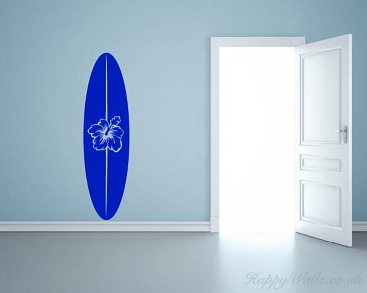 Surfboard Decal Beach Decor Coastal Decor