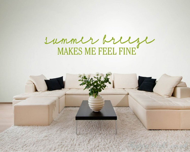 Summer Breeze Beach Wall Quotes Words Removable Beach
